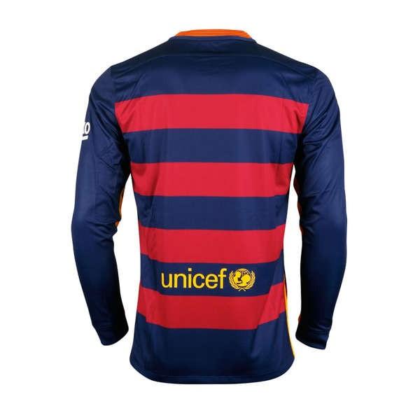 7e642dc8db412 CAMISETA FC BARCELONA SENIOR Manga Larga 1a EQUIPACION 15 16 de la ...