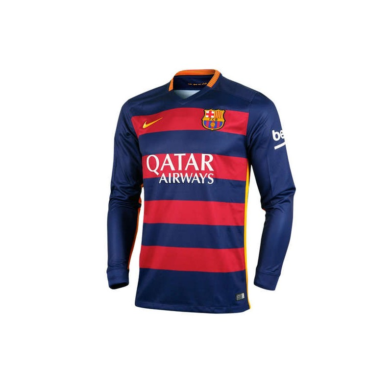 CAMISETA FC BARCELONA SENIOR Manga Larga 1a EQUIPACION 15 16 de la ... b577212b95e