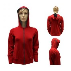 CHAQUETA BLACK CROWN ROJA CAPUCHA