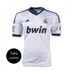 CAMISETA REAL MADRID JUNIOR 1a EQUIPACION 12/13